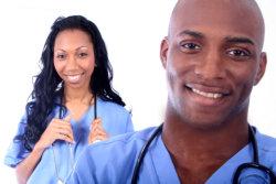 female and male nurse